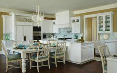 House of Turquoise: JMA Interior Design- Island table combo