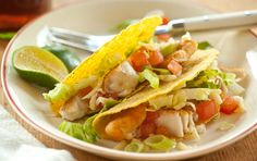 Fish Tacos- made these tonight! Si delish and healthy, too! Added sine pico to spice it up- yum!