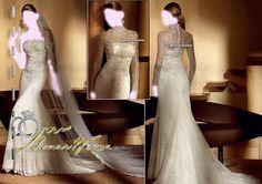 Saint Patrick , Long Sleeve Wedding Dresses Bridal Gown , Ivory SimPle Lace Chiffon Tulle , or prom dress , Idea , Jacket Bridal