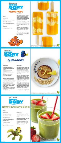 Finding Dory Recipes - 5 fun recipes for kids inspired by the movie Finding Dory