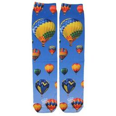 Hot Air Balloons Sublimation Tube Socks
