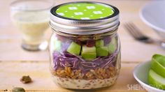 Meatless Monday: Mason jar salad with farro, cabbage and apples