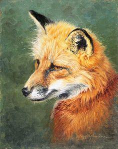 oil paintings of foxes | Red Fox by Krystii Melaine