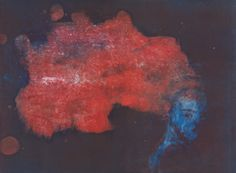 """Untitled monotype from the """"Bleu Nuit"""" series by French artist & printmaker Sophie LéCuyer"""