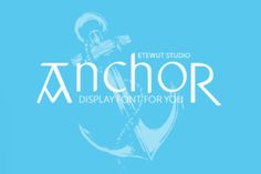 http://Anchor is a display font that is inspired by old Russian fairy tales.