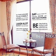 Love Family English Sentence DIY Wall Stickers Art Decor Mural Room Decal