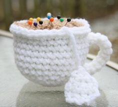 Cute and functional! Perfect for a crafty tea-lover...