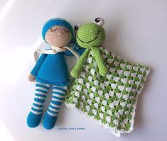 Con hilos, lanas y botones: Bebé dormilón amigurumi Lana, Crochet Hats, Recipe, Stuff Stuff, Knitting Patterns Baby, Cute Dolls, Hand Weaving, Free Pattern, Bebe