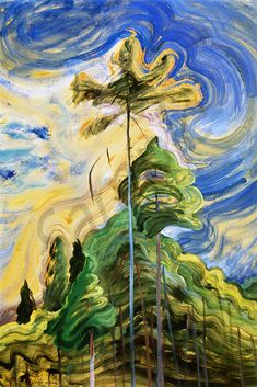 Sunshine and Tumult - Emily Carr c. 1939 Emily Carr was a Canadian artist and writer heavily inspired by the Indigenous peoples of the Pacific Northwest Coast. Tom Thomson, Group Of Seven Artists, Group Of Seven Paintings, Canadian Painters, Canadian Artists, Emily Carr Paintings, Art Gallery Of Hamilton, Impressionist Paintings, Post Impressionism Art