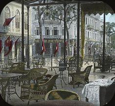 Egypt: Shepheard's Hotel, the verandah, Cairo. 1900