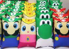 Almofada Personalizada - Mario Bolo Super Mario, Super Mario Birthday, Mario Birthday Party, Super Mario Party, 6th Birthday Parties, Mario Y Luigi, Mario Kart, Mario Crafts, Nintendo Party