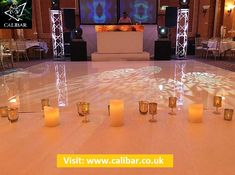 Light up the disco & Led Dance Floor into your wedding or events. Book Calibar for LED Dance Floors.