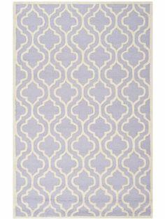 Amazon.com - Safavieh CAM132C Cambridge Collection Handmade Wool Area Rug, 5-Feet by 8-Feet, Lavender and Ivory -