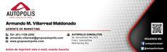 Diseño de firma en correo electrónico para Grupo Autópolis