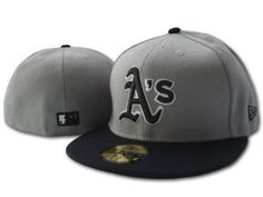 fitted hats | ... Oakland athletics new era embroidered fitted hat in grey Cheap Price