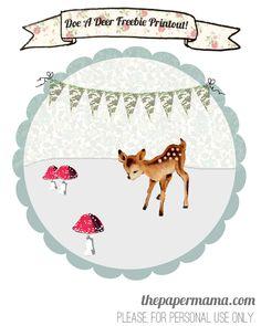 Doe a Deer freebie printable. Free printout from http://thepapermama.com