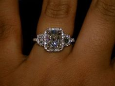 Wearing amazing Diamond rings on hands