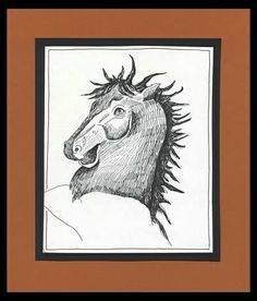 Horse - Pen Drawing: animals