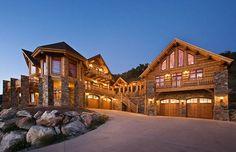 I love this design.  Montana Log Homes in Kalispell, Montana