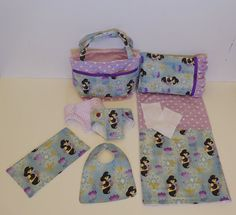 Bitty Baby Basics in Princess Jasmine - Diaper Bag and Diapers with Blanket and Pillow
