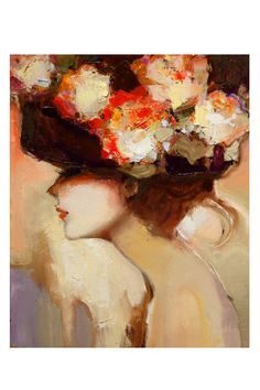 women with flowers in her hair