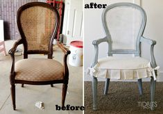 French country style makeover chair