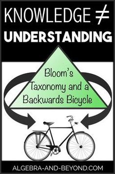Making a connection between knowledge (the steps) and understanding (they why) helps students expand their thinking in math. Learn all about the backwards bicycle and how it makes students think differently about math! Math Teacher, Math Classroom, Teaching Math, Teacher Tips, Teacher Stuff, Teaching Ideas, Math Homework Help, Math Help, Math Lessons