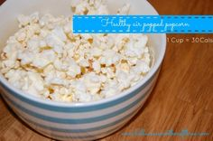 Low Calorie Heart Smart Healthy Snack For The Whole Family – Air Popped Popcorn