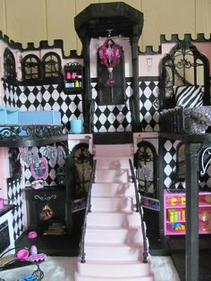 Ideas for doll house furniture diy printables monster high - JJ`s House Party Dresses - Evening/Cocktail - Kids Doll House, Doll House Plans, Barbie Doll House, Monster High Birthday, Monster High Party, Monster High Dolls, Haunted Dollhouse, Diy Dollhouse, Doll Furniture