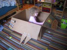 Box rocket based on Too Many Toys by David Shannon