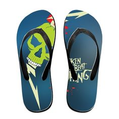 Shehe Broken Beat Skull Unisex Leisure Beach Flip-flops Thong *** You can find more details by visiting the image link.