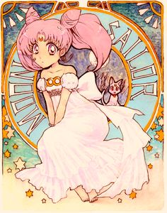 art nouveau Sailor Chibi/Mini Moon