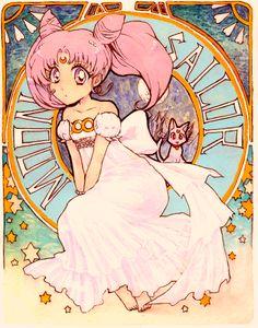art nouveau Sailor Chibi/Mini Moon