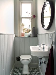 Small toilet room - Space Saving Toilet Design for Small Bathroom – Small toilet room Space Saving Toilet, Small Toilet Room, Small Toilet Decor, Toilet Room Decor, Wc Decoration, Decorations, Downstairs Cloakroom, Small Wc Ideas Downstairs Loo, Victorian Bathroom