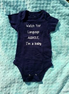 Watch Your Language cute baby funny creepers shirt bodysuit baby shower gift idea cute funny baby items