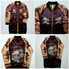 Isani Baseball//Bomber Jacket Size Choice M,L    Embroidered birds//flowers NEW