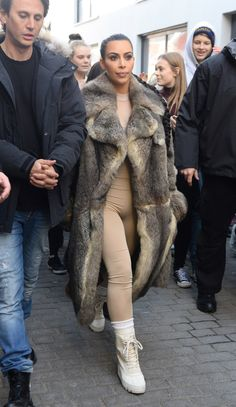 Kardashian/Jenner Blog — April 18th, 2016 - Kim out in Iceland  #fur #broker #furonline Add Pin Share @anandco