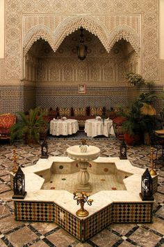 El Riad // Maroc by #Anticocotte -not sure wgst this is but its lovely.  Maybec a restaurant????