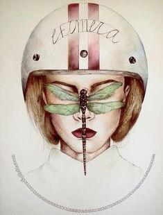 La chica libélula. Ilustración inspirada en el libro intranerso