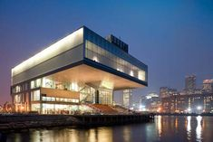 """Institute of Contemporary Art Boston The building is located in South Boston. It was designed by the architectural firm Diller Scofidio+Renfro. This building won 2007 Harleston Parker Medal award for """"the most beautiful piece of architecture"""" in Boston. Boston Architecture, Architecture Photo, Amazing Architecture, Museum Architecture, Architecture Board, Amazing Buildings, Zaha Hadid, Frank Gehry, Architectural Digest"""