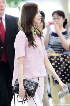 Yoona's airport fashion