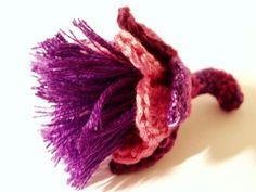 Water Avens flower crochet pattern