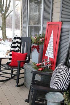 10 Christmas Porch Decor Ideas and Inspiration Patio & Outdoor Furniture