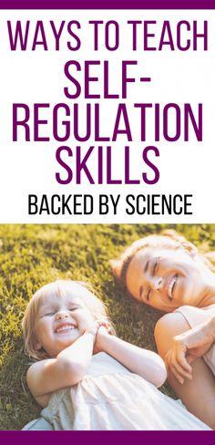 Self Regulations Skills For Kids Christian Parenting Books, Best Parenting Books, Gentle Parenting, Parenting Advice, Peaceful Parenting, Toddler Behavior, Toddler Discipline, Positive Discipline, Toddler Chores