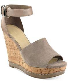 Marc Fisher Hillory Two-Piece Platform Wedge Sandals | macys.com