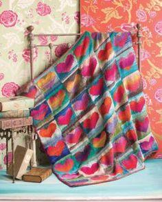 Noro Heart Blanket Knit Along
