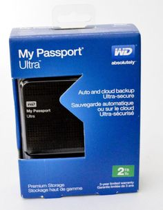 Western Digital My Passport Ultra Black 2 TB,External (WDBMWV0020BBK-NESN DRIVE #WesternDigital