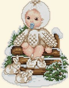 SNOW OWL BABY (Page 1 of 3) - Ellen Maurer-Stroh Animal Babies Series