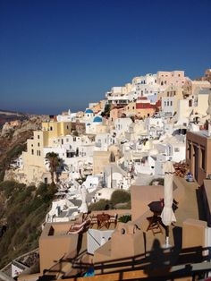 City views of Oia in Santorini, Greece