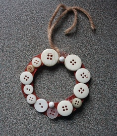 button ornament ~ easy fun craft for the kids.